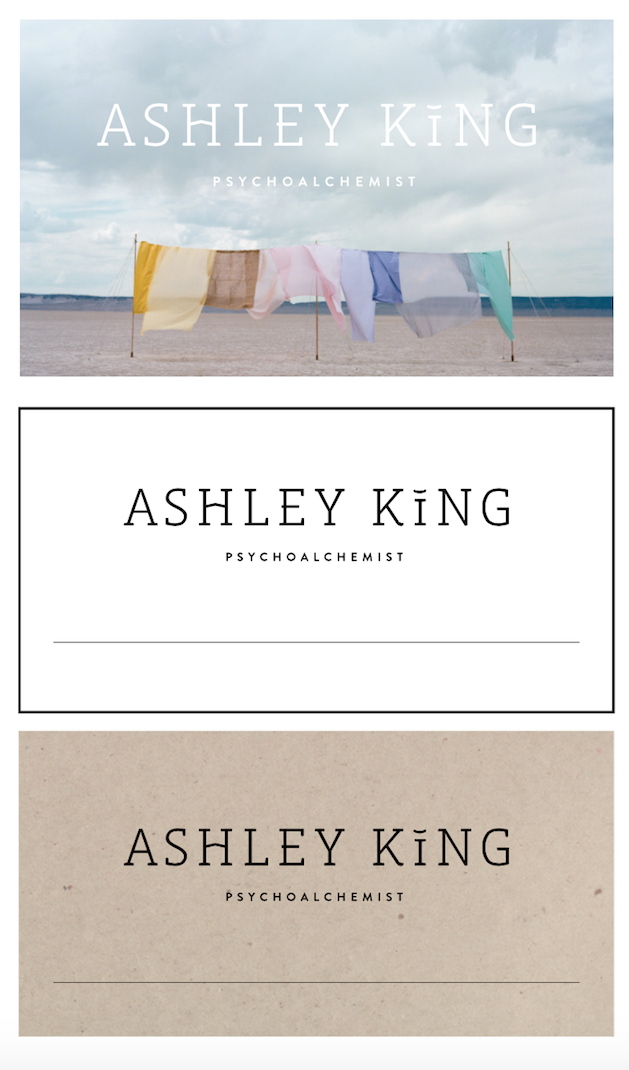 Ashley King Therapist Philadelphia business cards