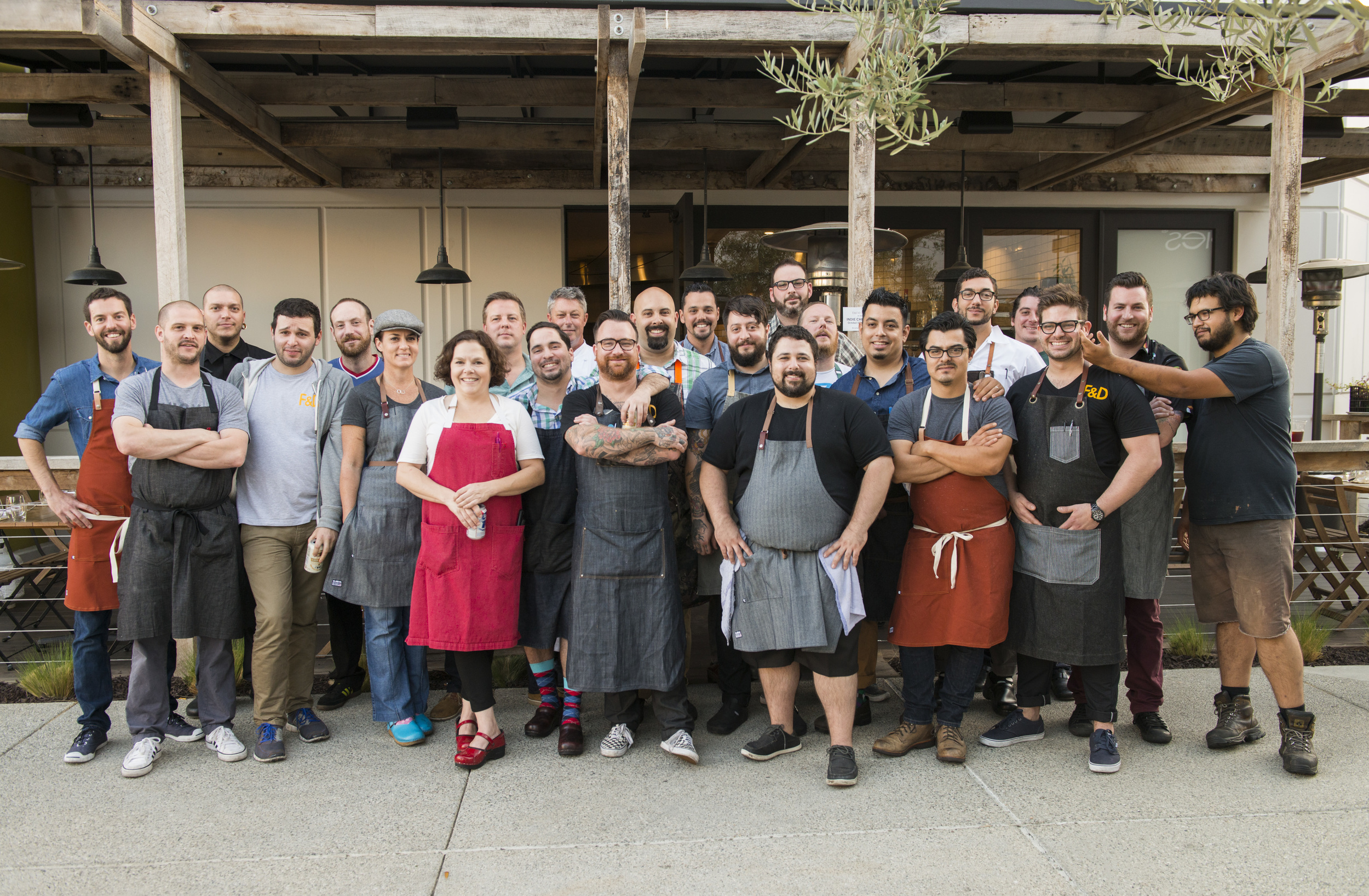The thirty guest chefs who cooked at Taco María during Indie Chefs Week SoCal.