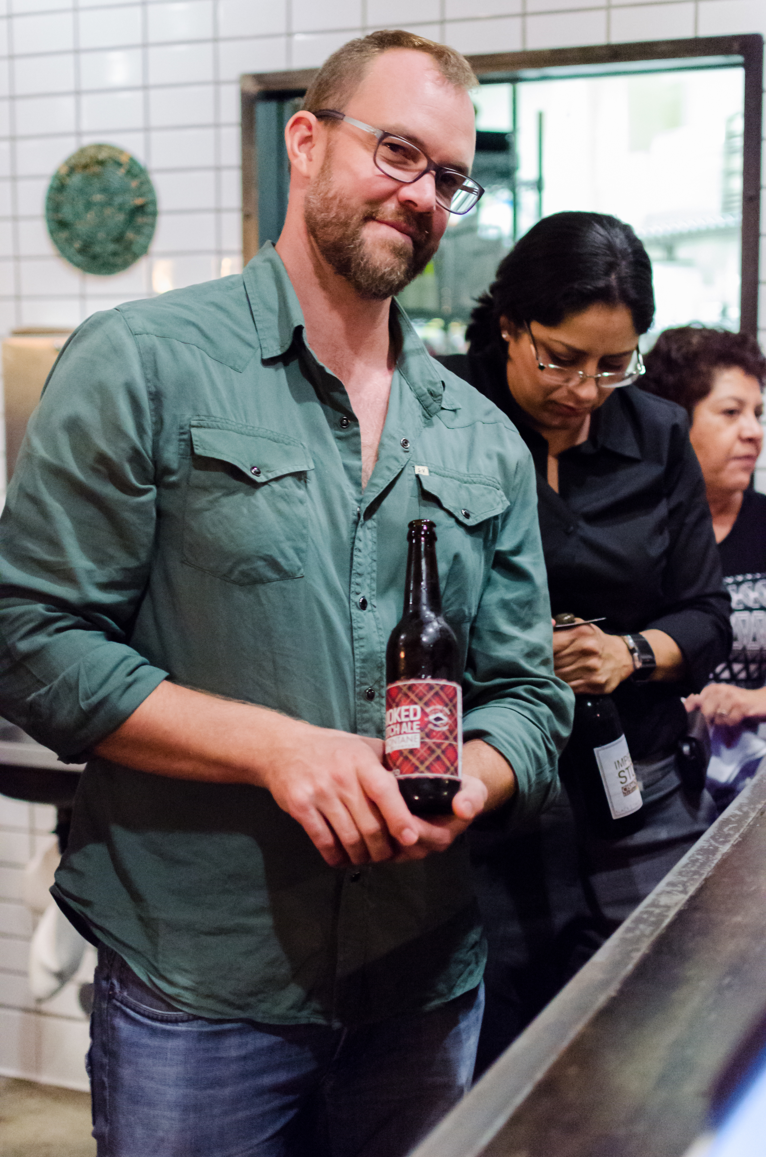 Even Weinberg from Cismontane Brewing Company, which paired all of the beer for the Indie Chefs Week SoCal dinners.