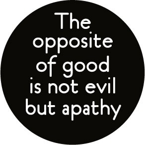 Opposite Of Good Is Not Evil Button (0858)