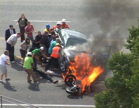 heroes save motorcyclist