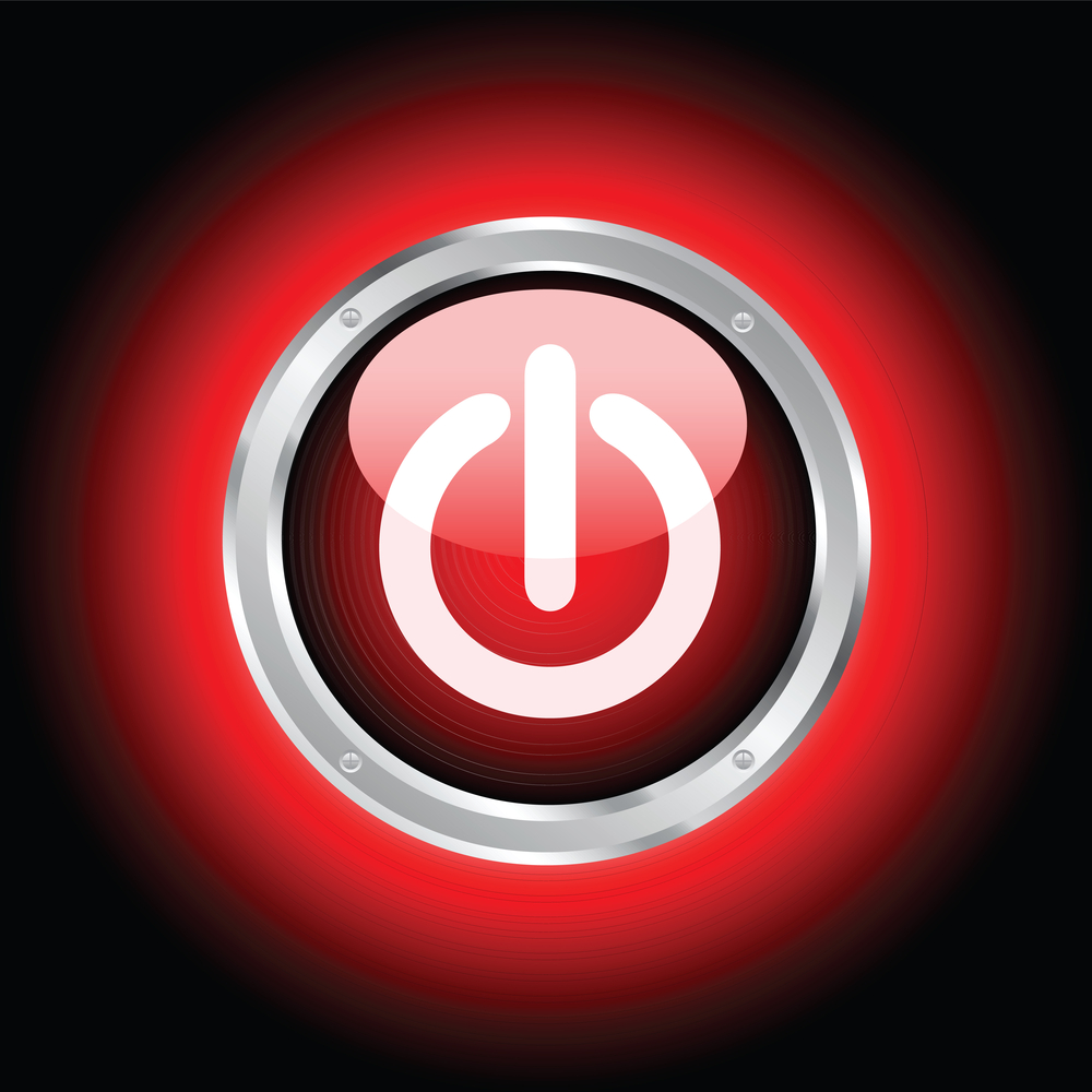 red-power-button-on-black
