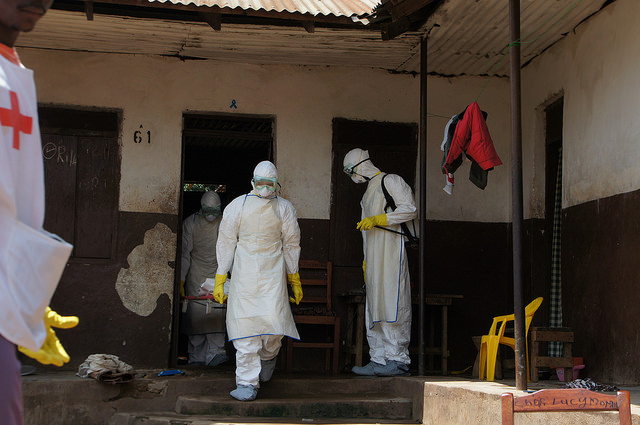 An Ebola virus quarantine in Eastern Sierra Leone. Harvard Business School historian Nancy Koehn said community leaders have been doing the bulk of work to combat the virus, while world leaders stand by. Credit https://www.flickr.com/photos/69583224@N05/ / Flickr