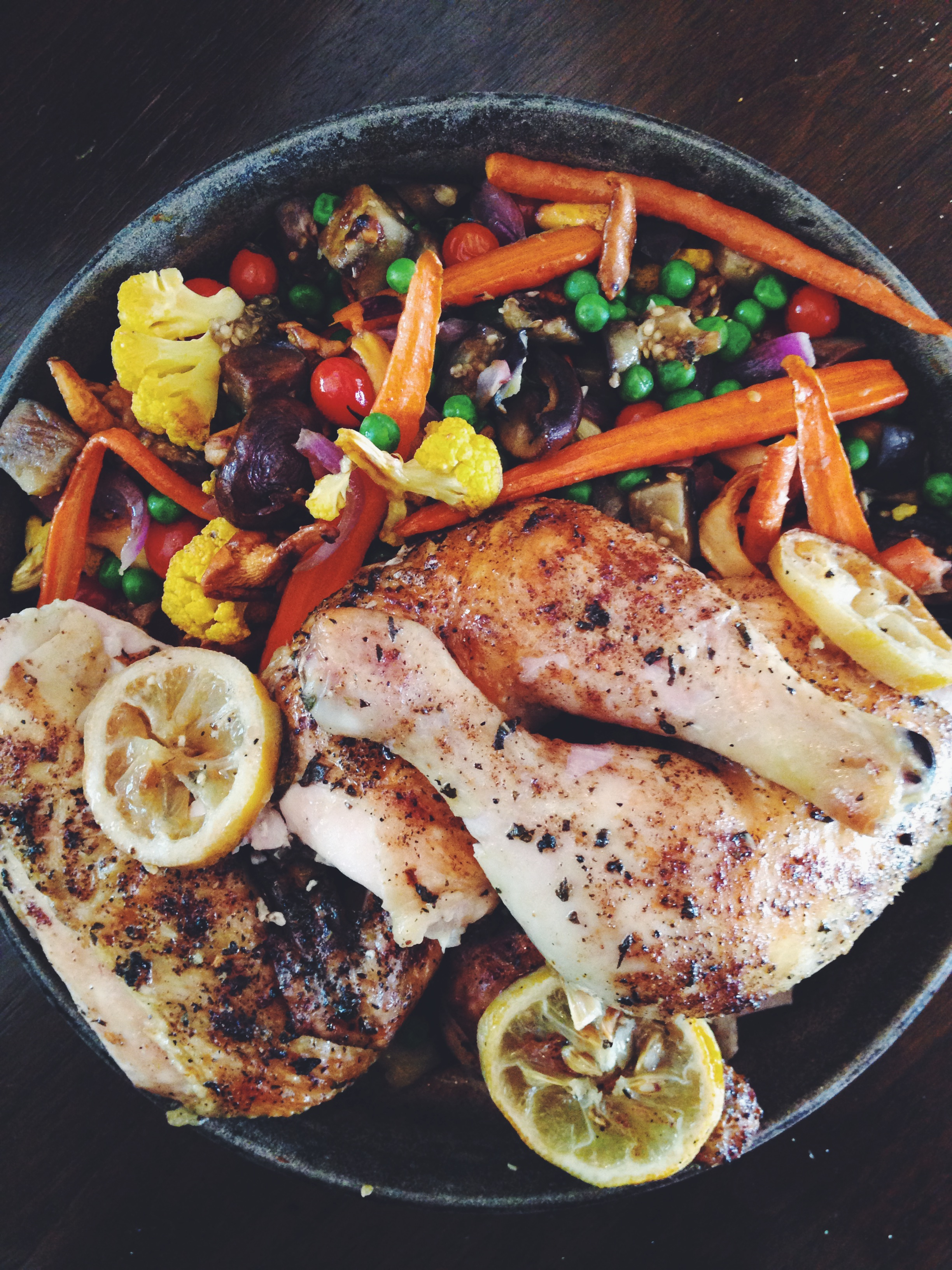 Lemon and Indian Spiced Roast Chicken