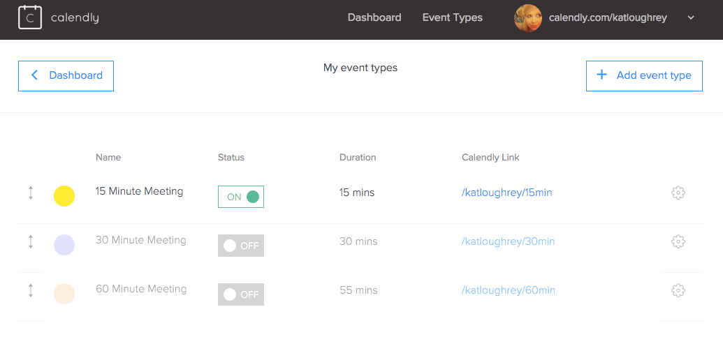 To save back and forth with clients, I use Calendly to set my available meeting slots.