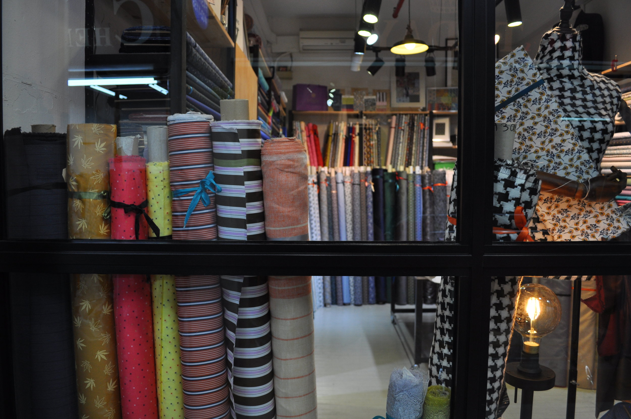 Come visit us! - We welcome you to drop by our shop and visit us. Take your time to browse, feel and touch the texture of our collection and talk to us! We will be most happy to share with you ideas and help you choose the fabric to meet your needs.