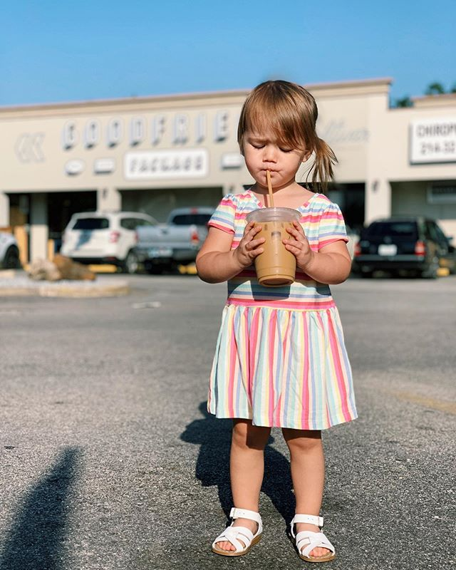 I don't know if it's wise to give a 2yr old coffee, but we do it anyway. 🤷🏻‍♂️