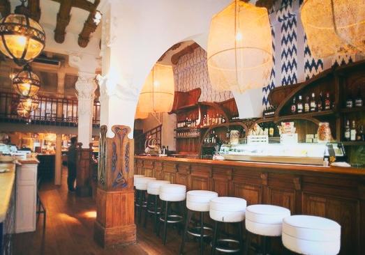 G  ILL ROOM   - affordable midday gourmet menu   Modernist.& elegant, good value -  El Gòtic