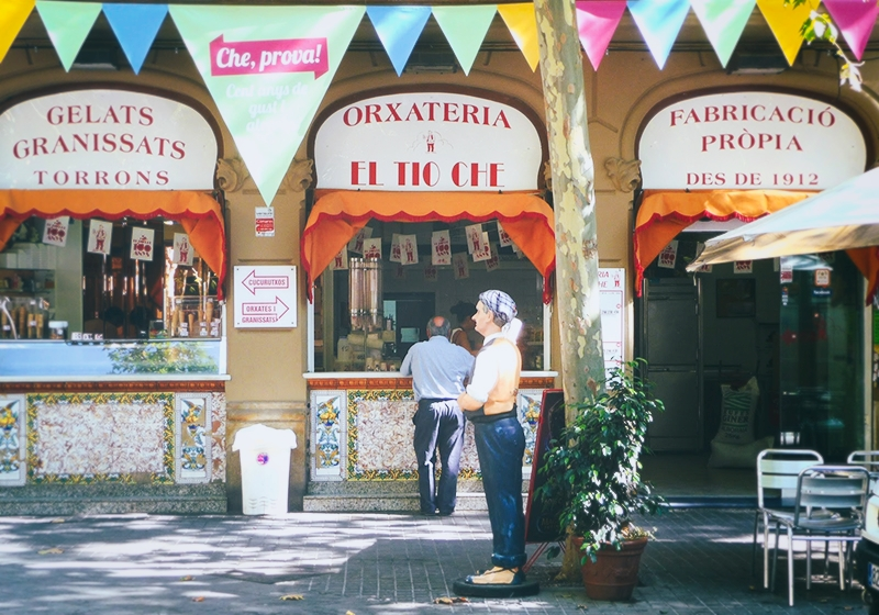 "ICE CREAM EL TIO CHE   One of the best handmade ice cream shop in Barcelona since 1912. Try also the ""Orxata""-  Rambla del Poblenou"