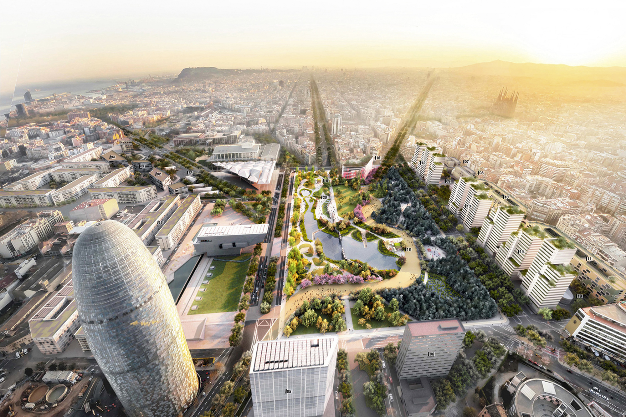 BARCELONA, THE 2º SMART CITY IN THE WORLD - The current reform of Glòries Square will convert the district in the new IT & Cultural nerve centre of Barcelona.It includes a new green rambla linking Avenida Meridiana to Glòries Square focusing on bicycles & pedestrians.