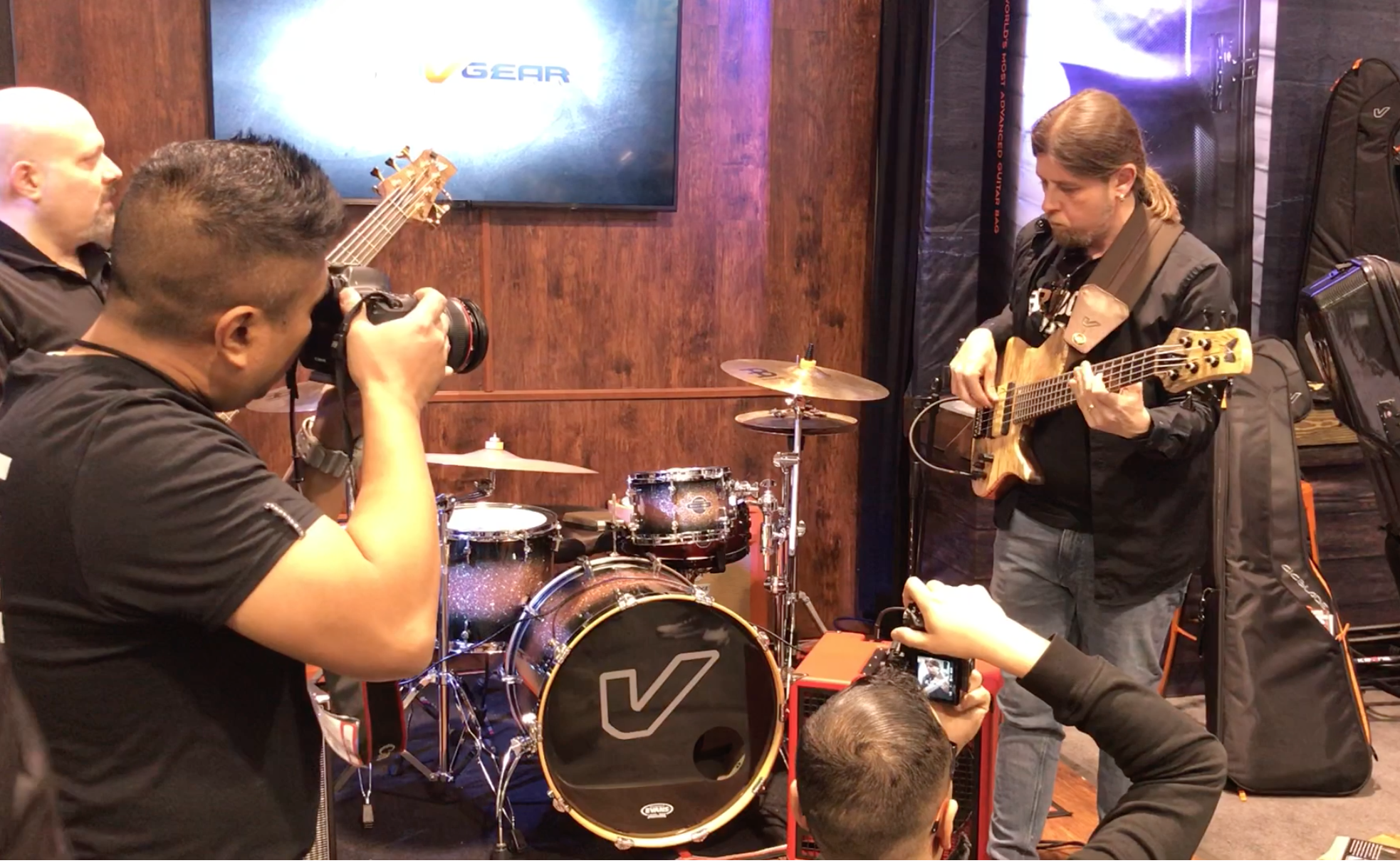 Oytun Ersan at NAMM 2019 GruvGear booth.png