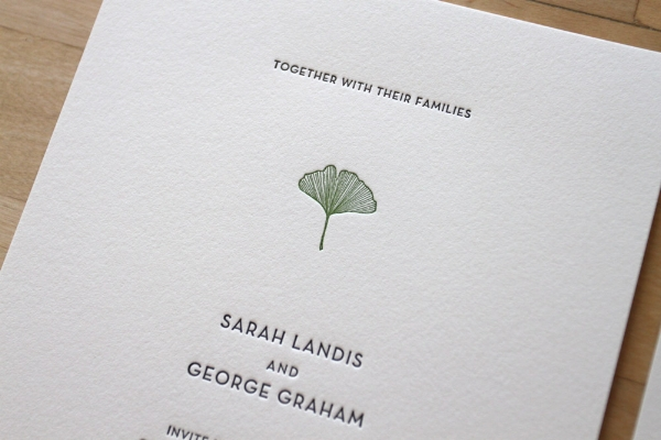 Copy of Gingko Letterpress Invitation