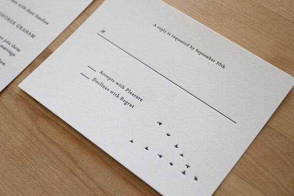 Copy of Winter Letterpress Invitation