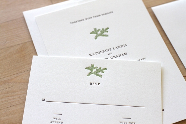 Copy of Evergreen Letterpress Invitation