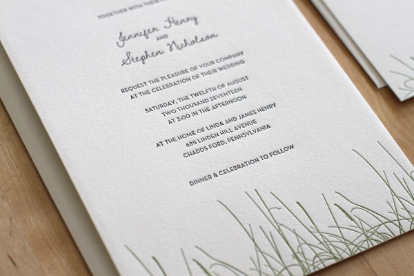 Copy of Grass Letterpress Invitation