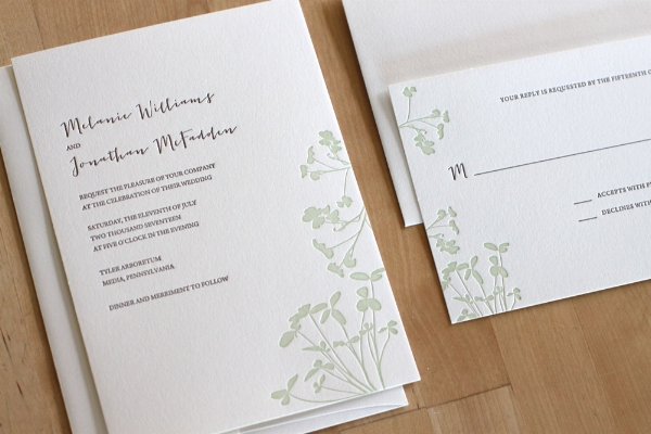 Copy of Clovers Letterpress Invitation
