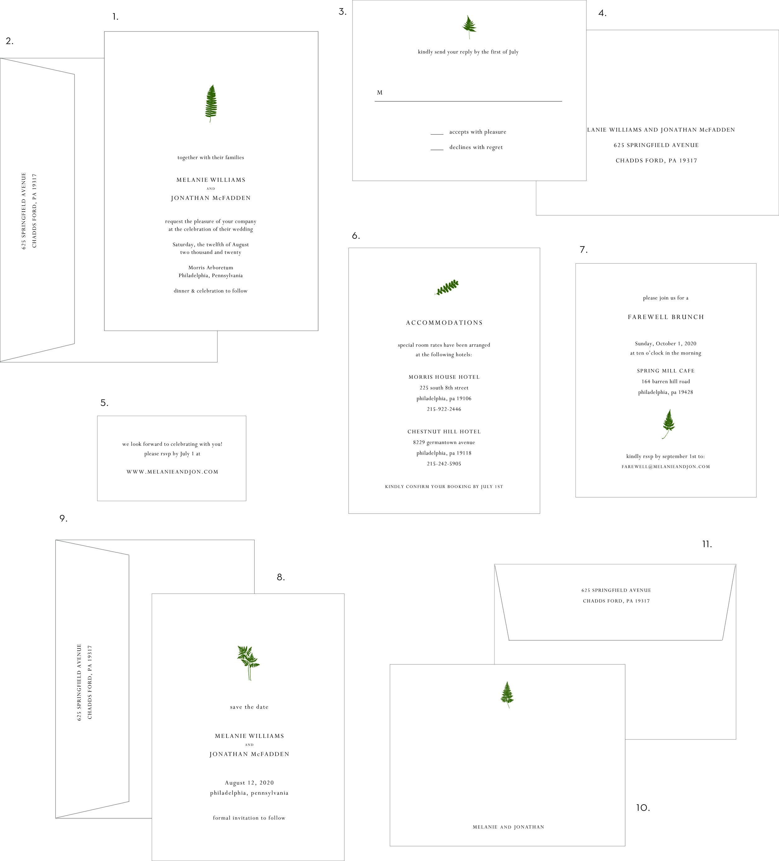 Letterpress Wedding Invitation Fern & Leaf Style.jpg