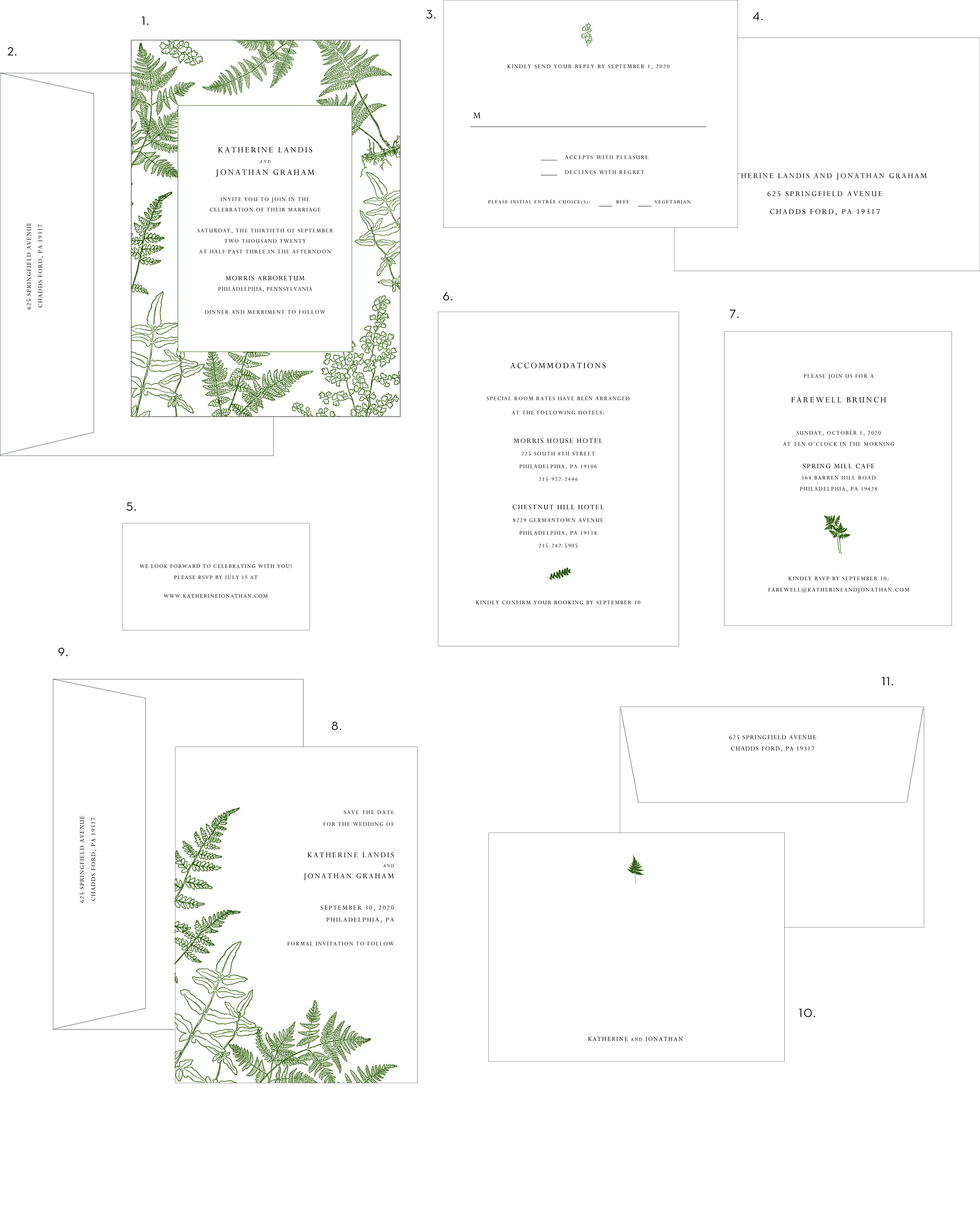 Letterpress Wedding Invitations Vintage Fern Style.jpg