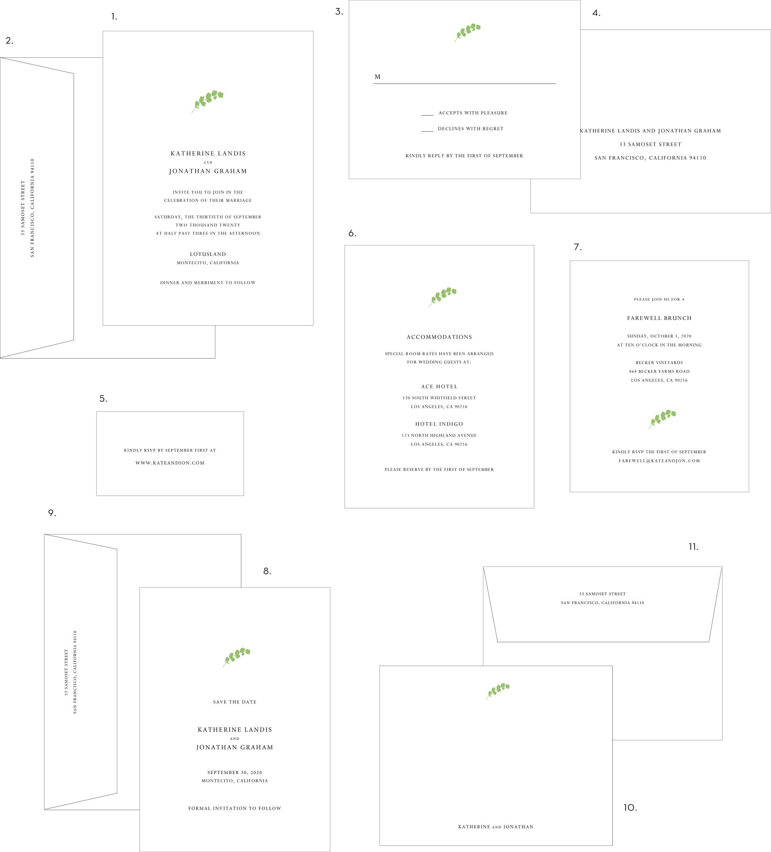 Letterpress Wedding Invitation Eucalyptus Style.jpg