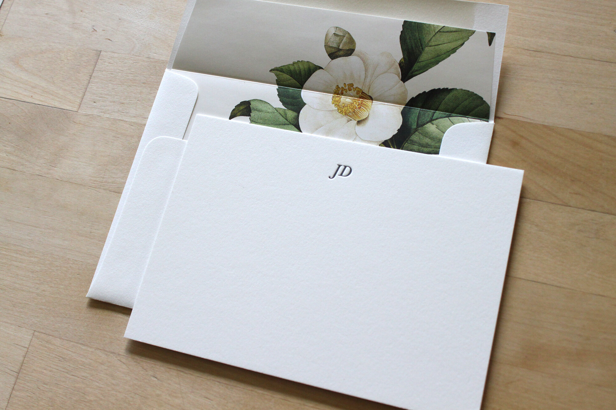 Personalized Custom Note Cards MARAIS Letterpress Stationery Set Classic Design