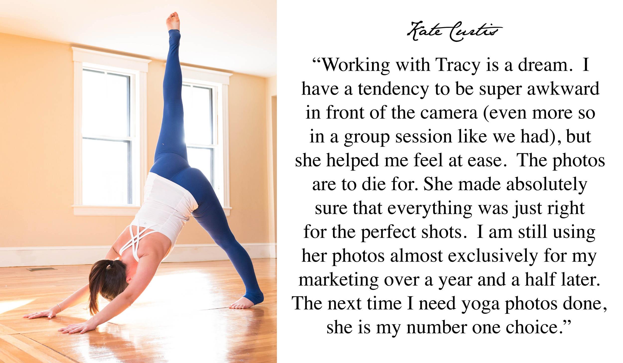 Five Star Review Boston Yoga Photographer