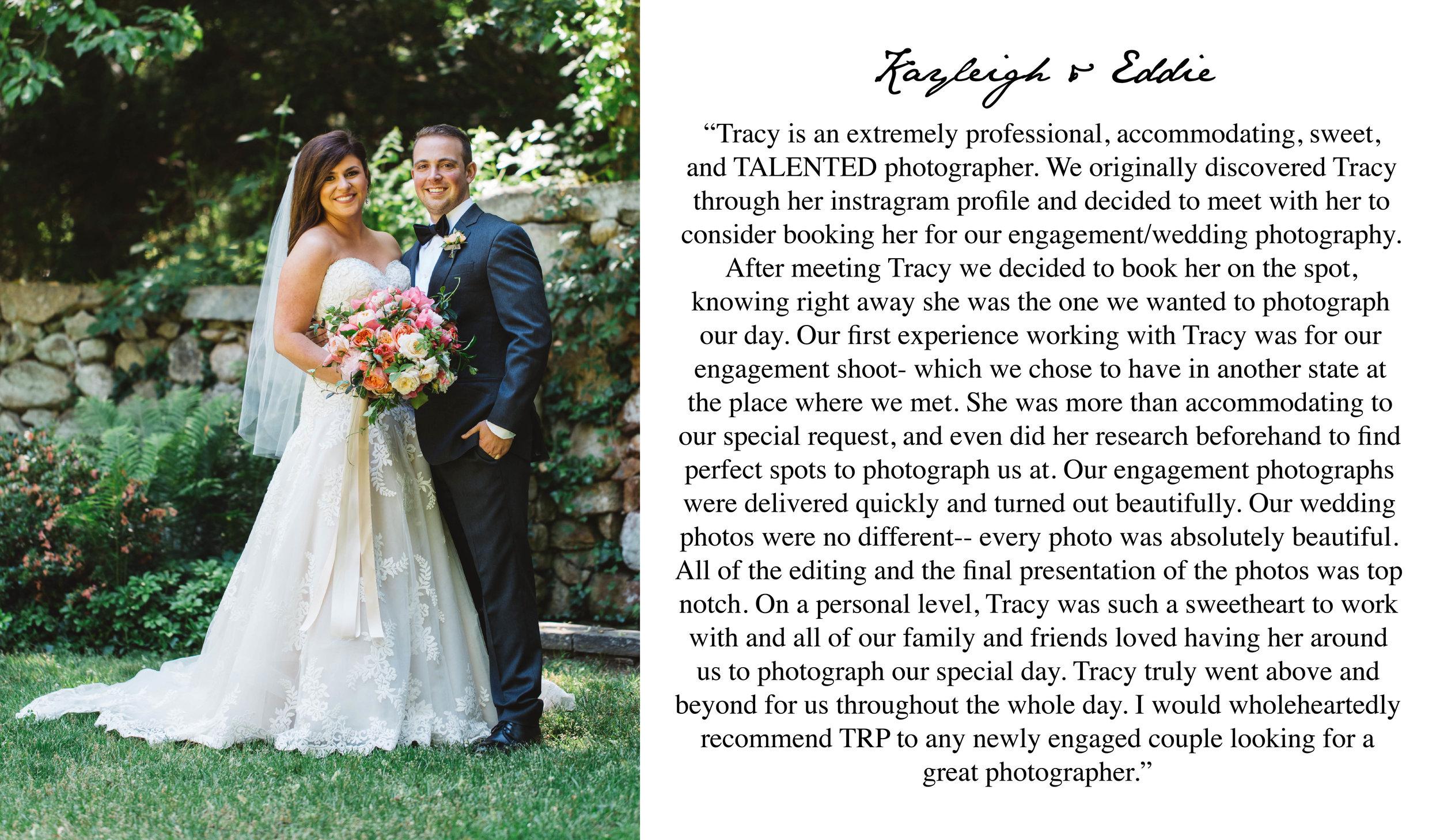 5 Start Wedding Review - Boston Wedding Photographer