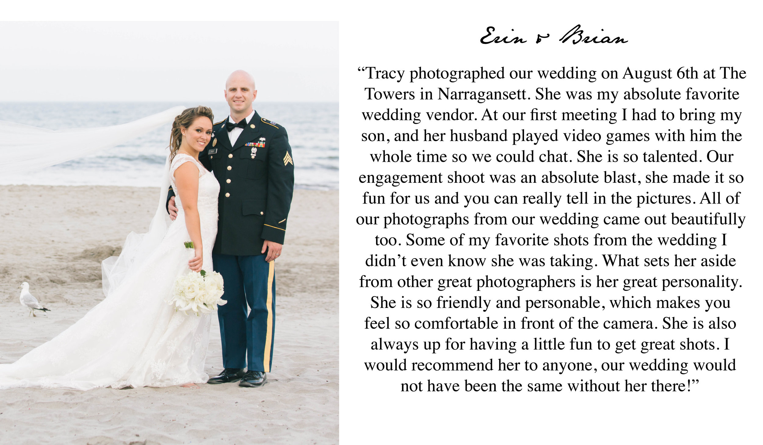 Boston Wedding Photographer 5 Star Review for Tracy Rodriguez Photography