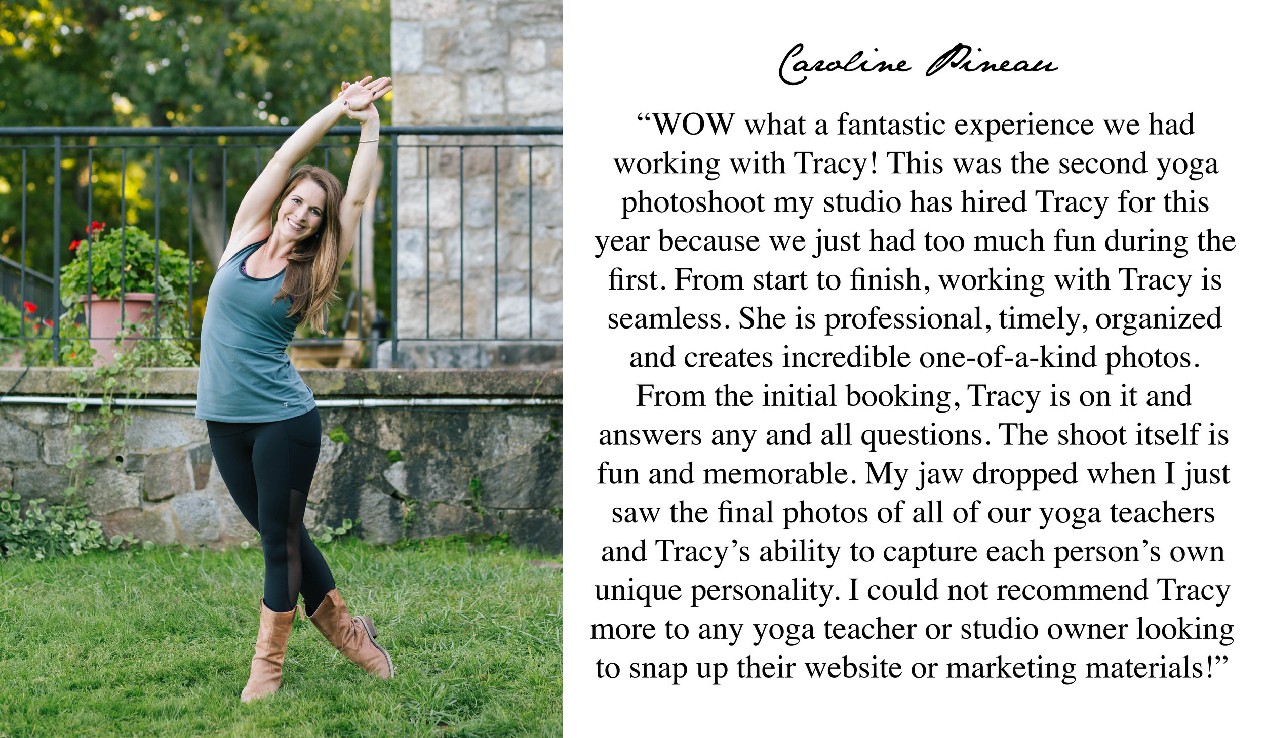 5 Star Review Boston Yoga Photographer Tracy Rodriguez Photography