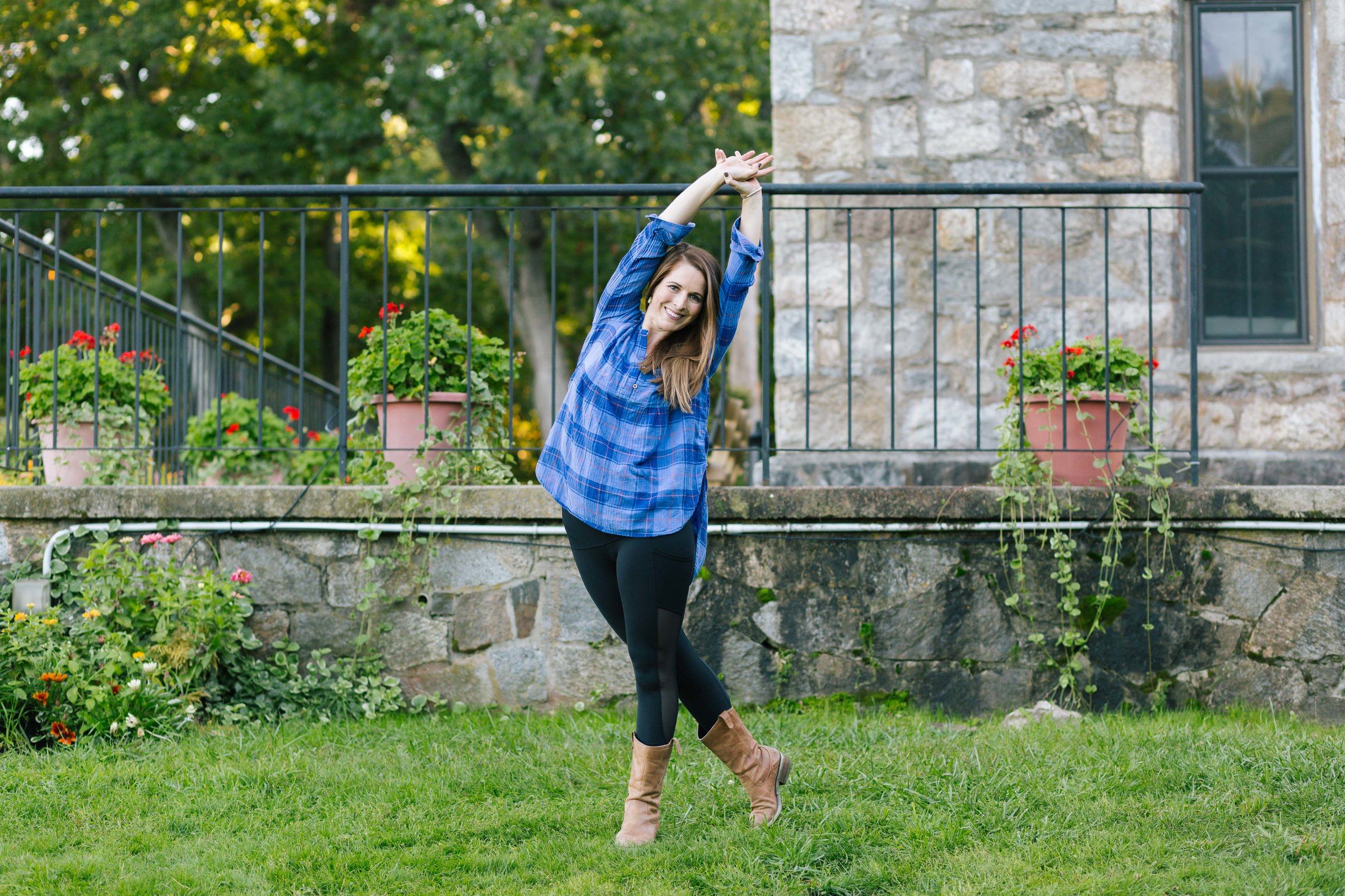 The beautiful Caroline Pineau, owner of The Yoga Tree in Haverhill, MA