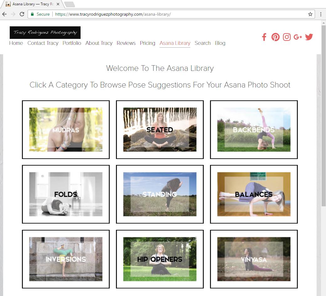 Boston Yoga Photographer Asana Library