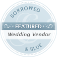 This wedding was featured on Borrowed & Blue!