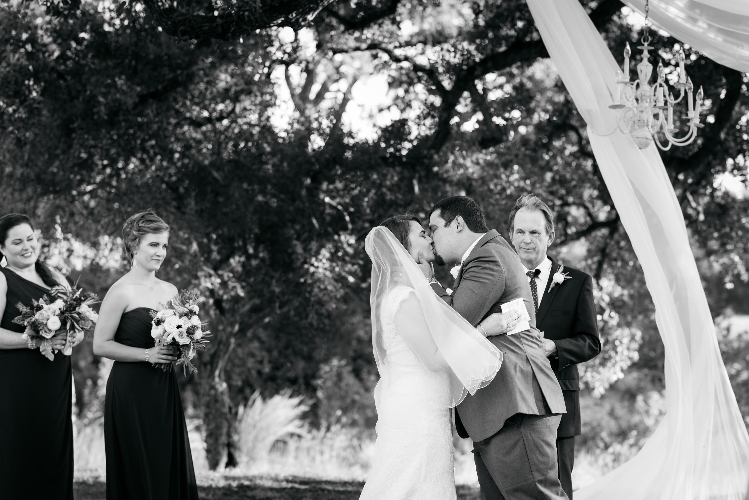First Kiss--at Pecan Springs Ranch
