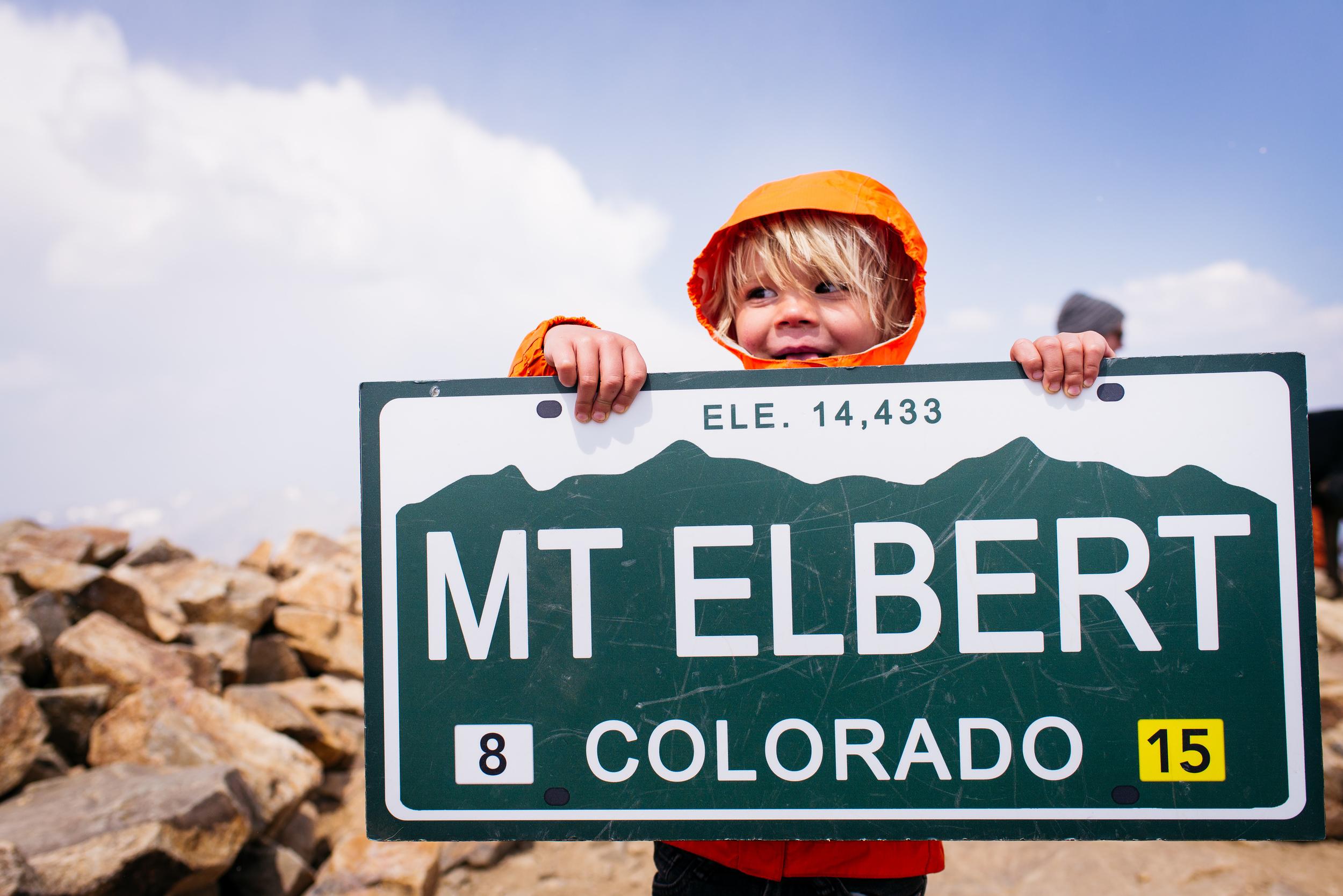 First 14'er, Mt Elbert at 14,433'