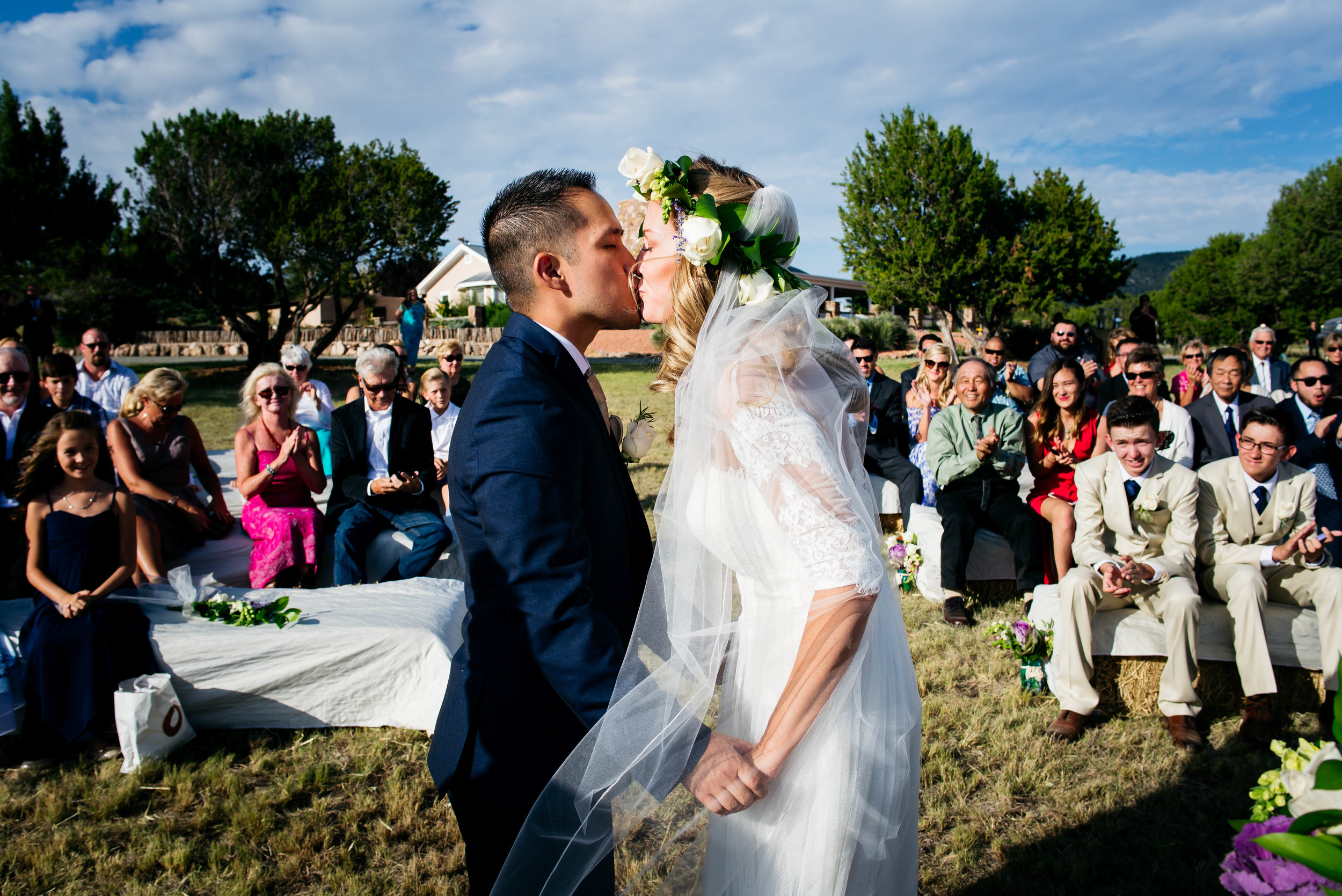 Extended Play Photography documentary wedding photography in Albuquerque, New Mexico. Capitan wedding ceremony candid.