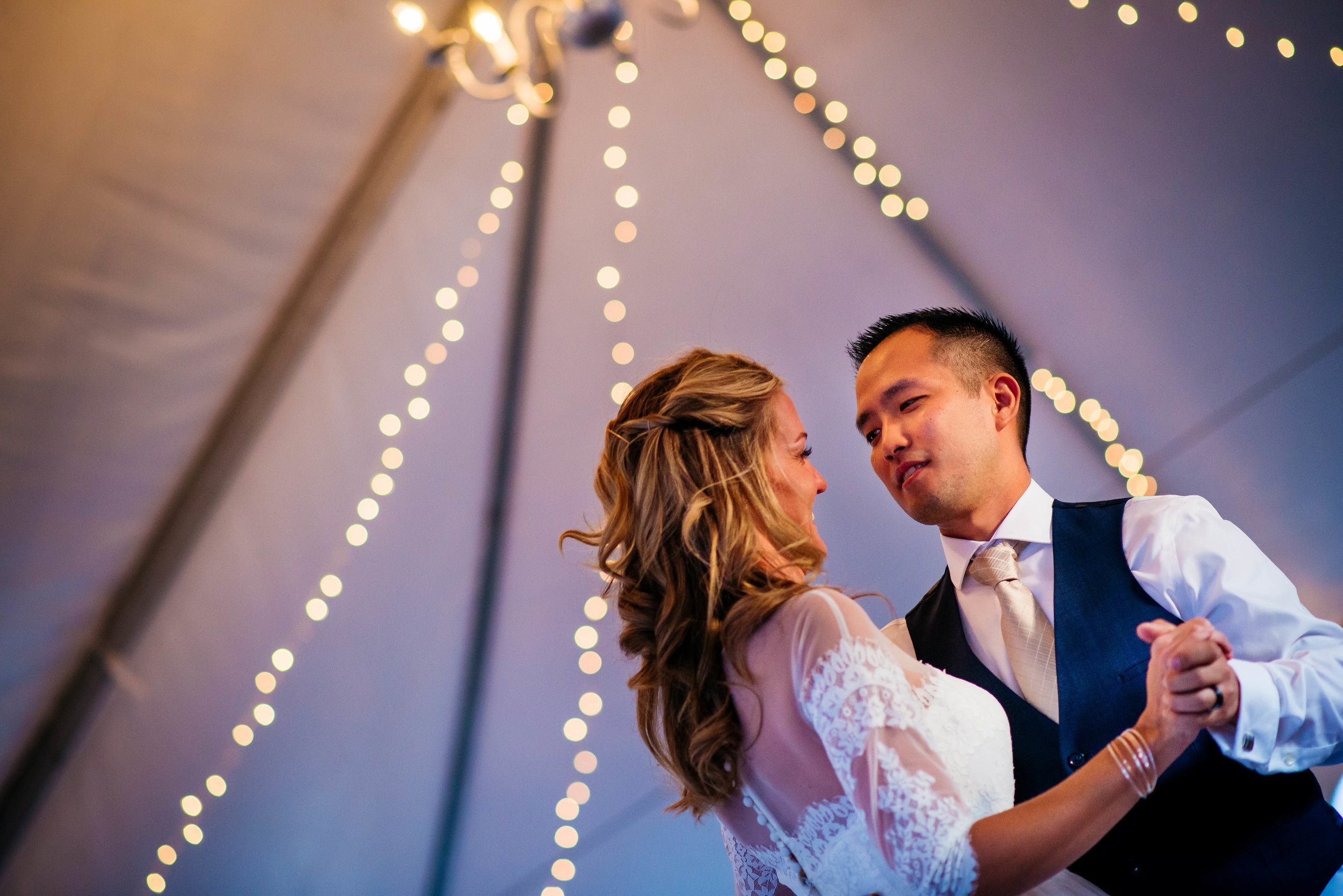 Extended Play Photography documentary wedding photography in Albuquerque, New Mexico. Capitan wedding reception first dance candid.