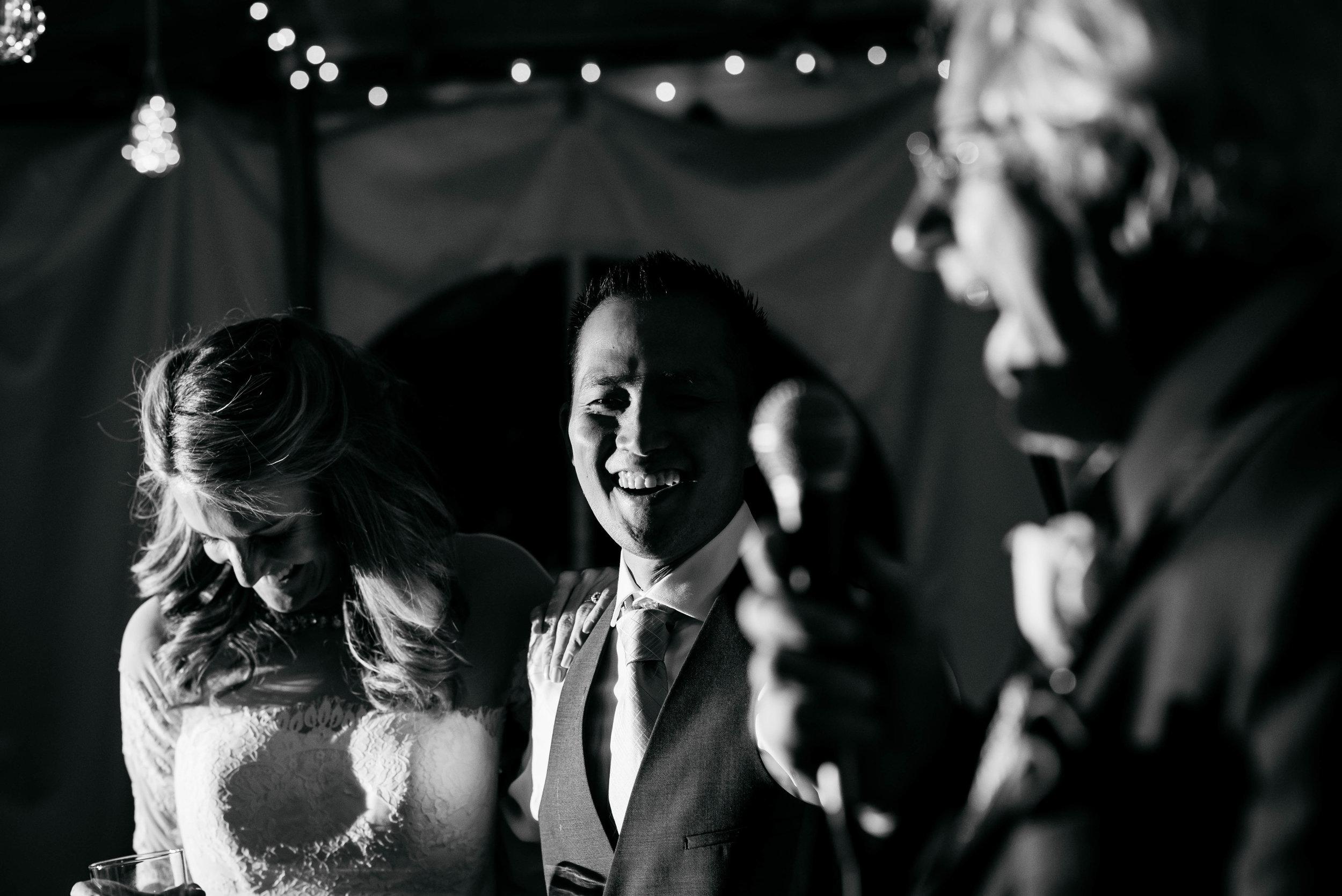 Extended Play Photography documentary wedding photography in Albuquerque, New Mexico. Capitan wedding reception speechescandid.