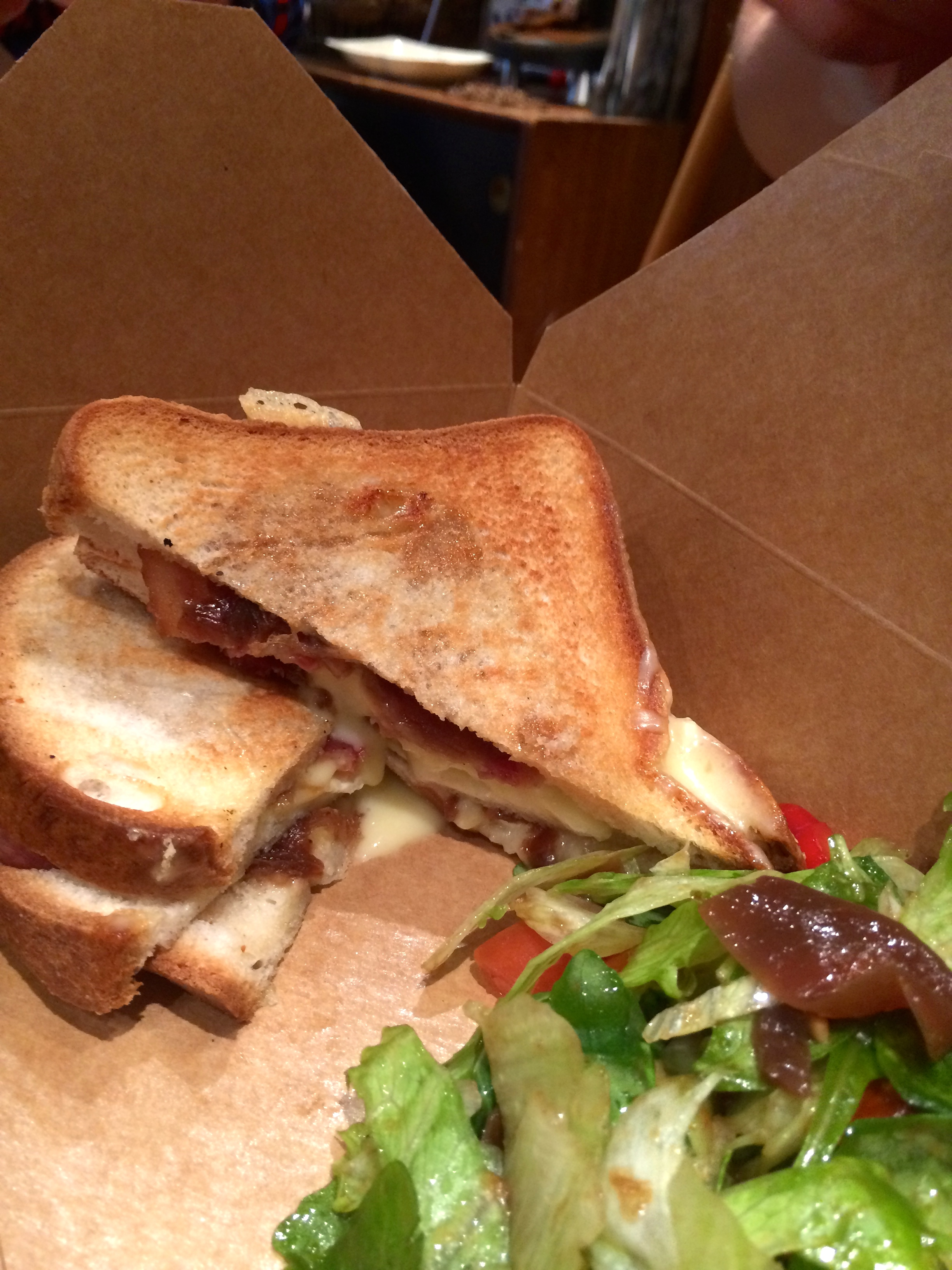 Smoked Bacon, Brie & Balsamic Onion on gluten-free bread