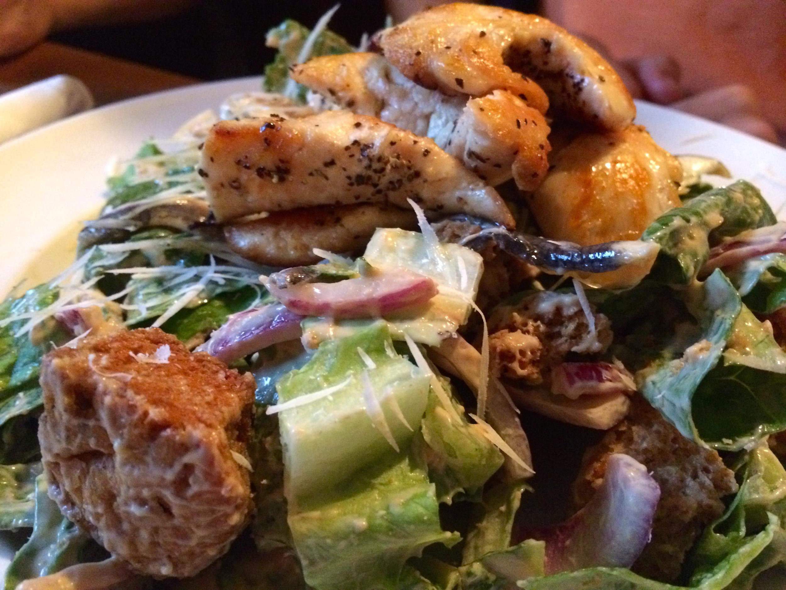Chicken Caesar Salad....Anchovy-Rich!