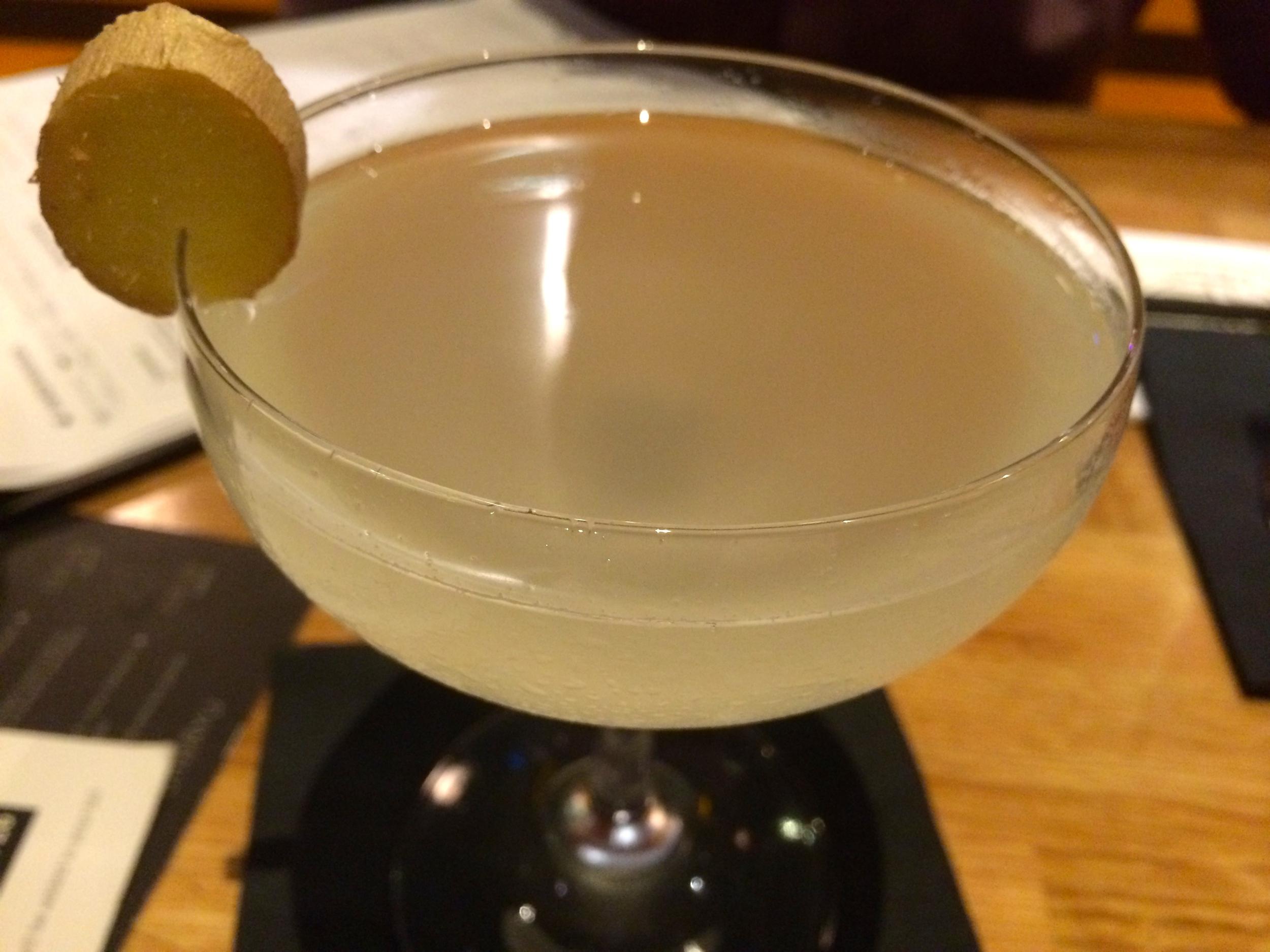 Lemongrass and Ginger Martini w/ Shochu & Vermouth