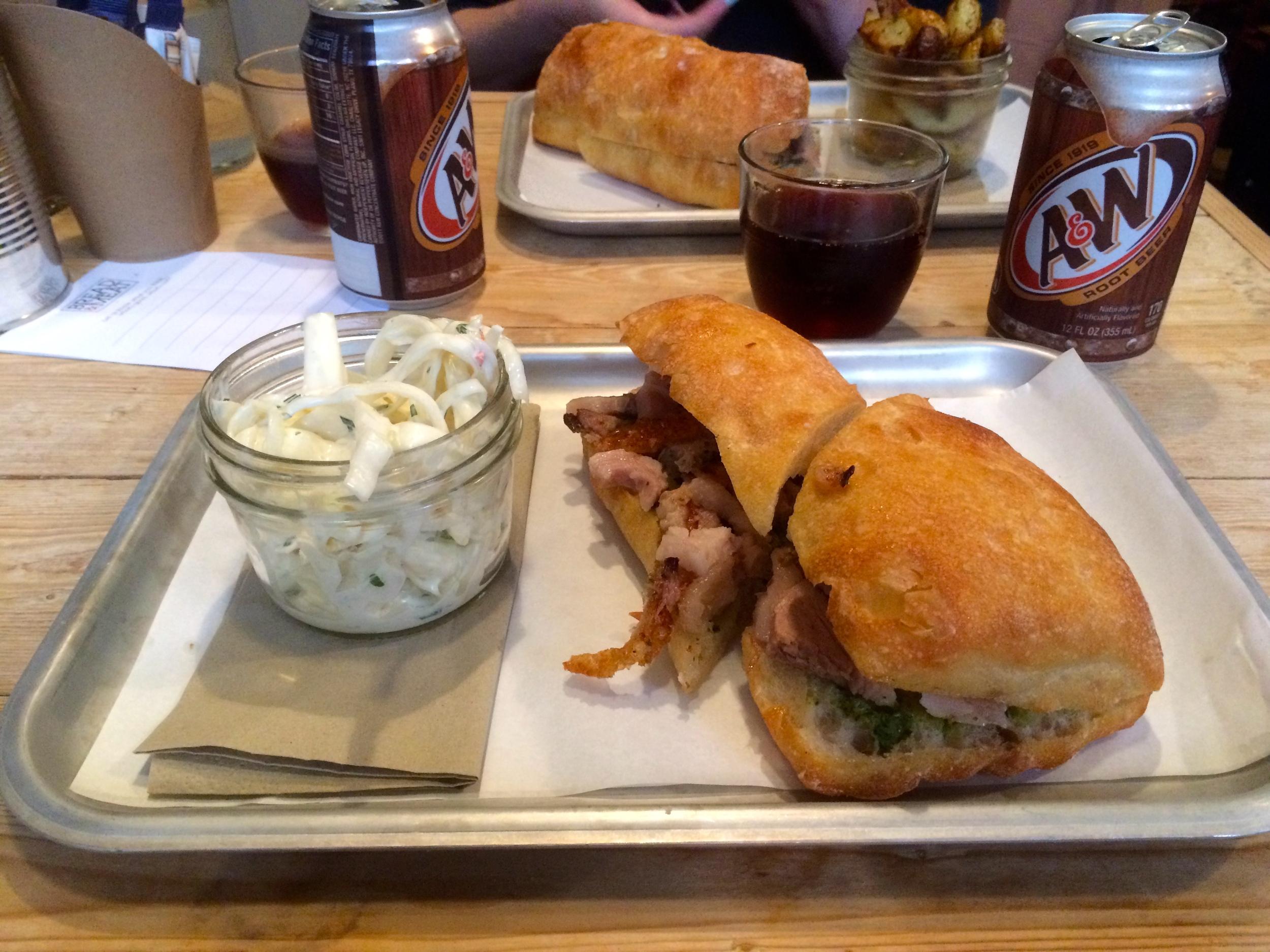 Porchetta Sandwich - Slaw Perspective