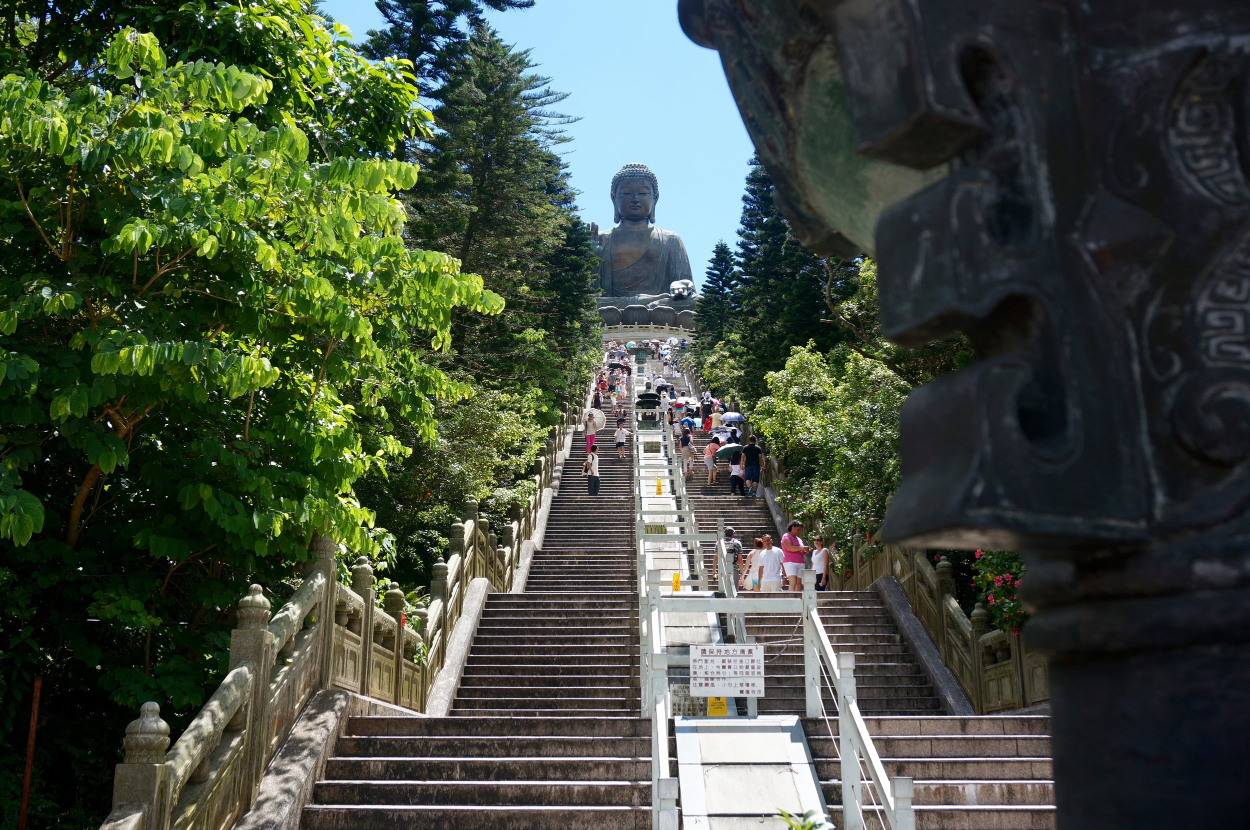 Steps up to the Tian Tan Buddha