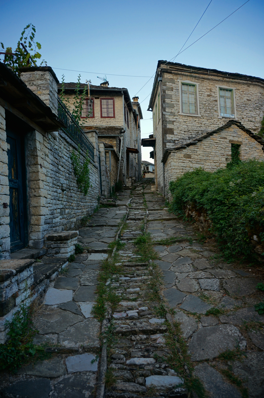dilofo cobbled street