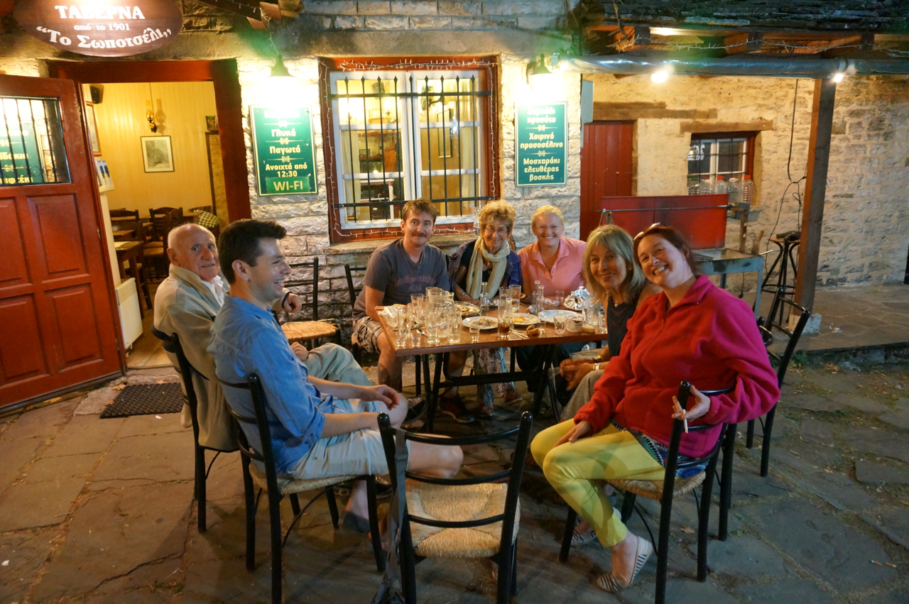 drinks at the taverna in dilofo