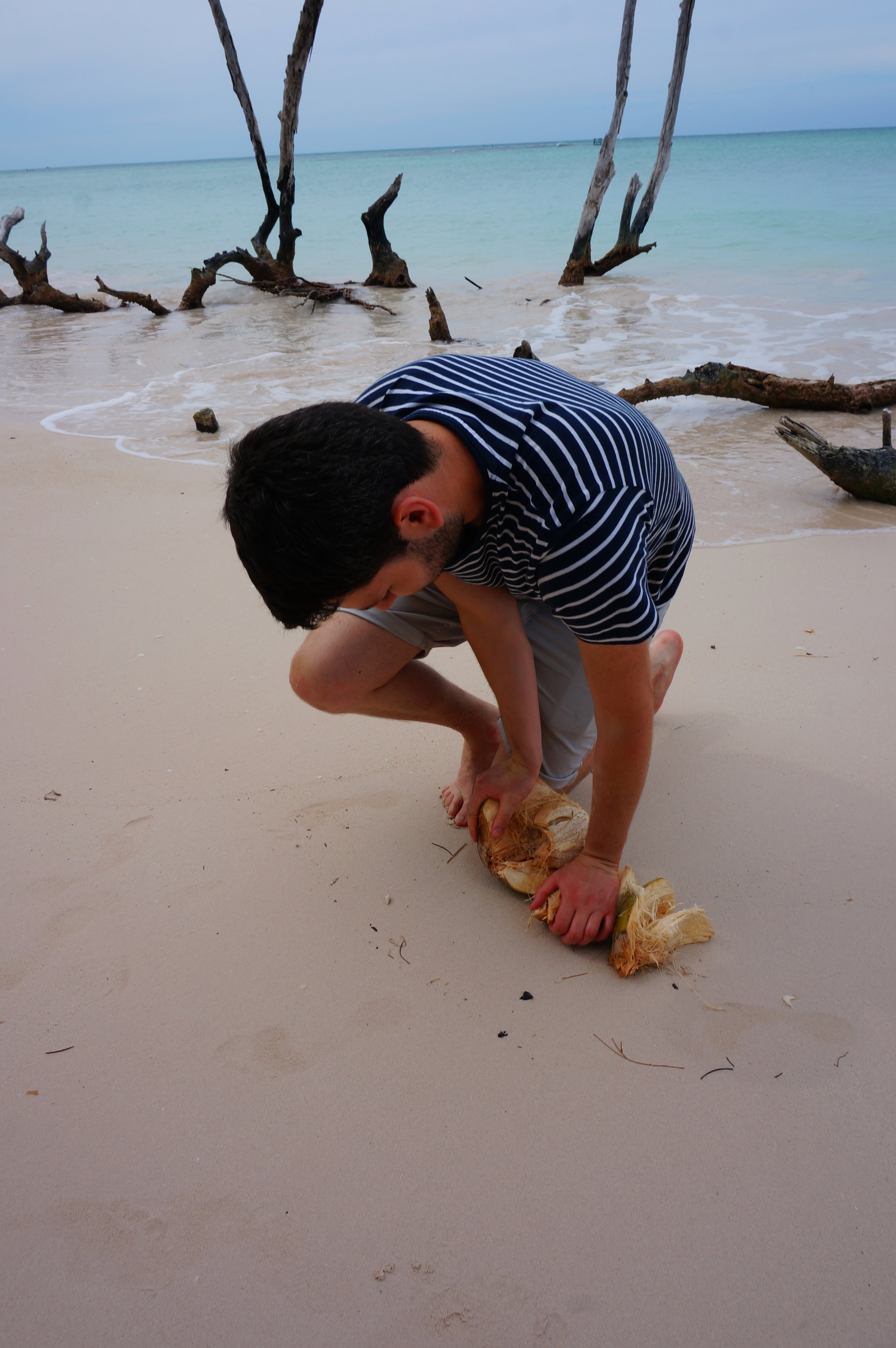 joe-opening-a-coconut