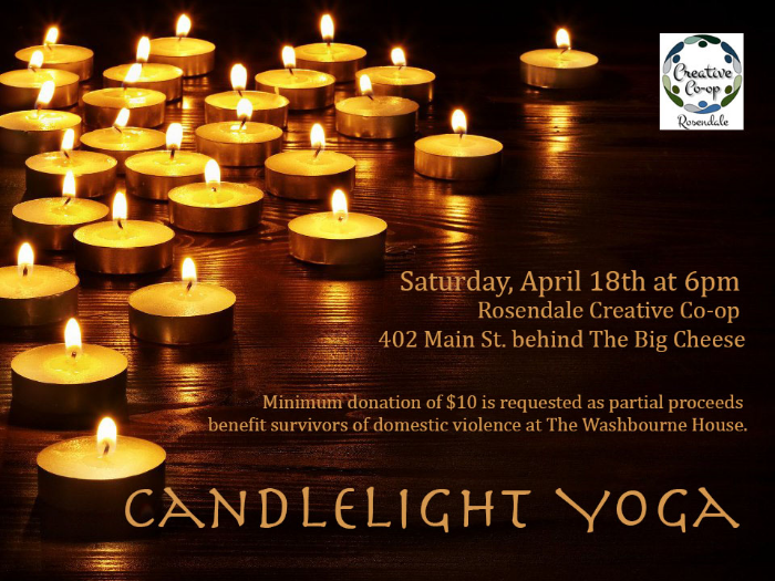 rosendale creative co-op candlelight yoga