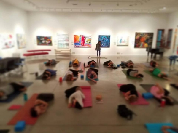 HEartWORK Lacey Seidman DM Weil Gallery Sunflower Yoga