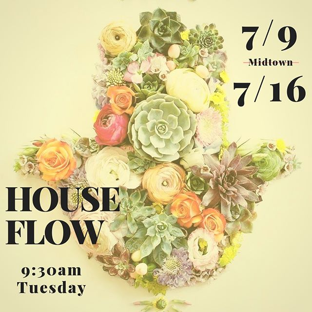 Covering HOUSE FLOW for @aaronkdias at @yogahouseny Midtown the next two Tuesday mornings. See you tomorrow, Kingston! 🌺