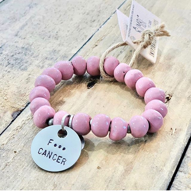 simply stated...F*** CANCER! limited edition @simbihaiti bracelets are in the studio!  DM us and we will ship it out!! #breastcancerawareness #simbi #checkyourtits