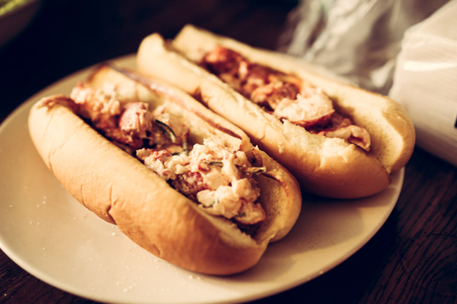 Lobster rolls, finished product