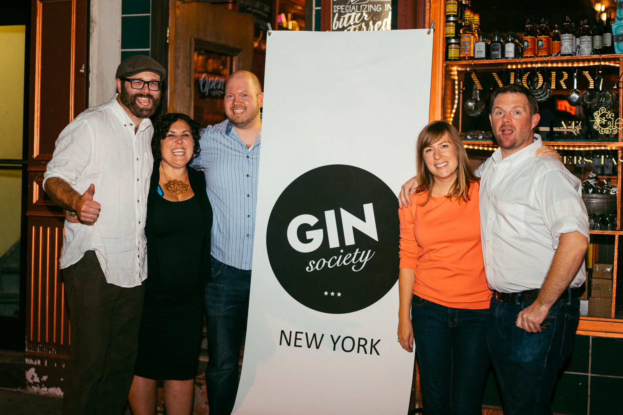 Paco, Tami, and the NYC Gin Society Team
